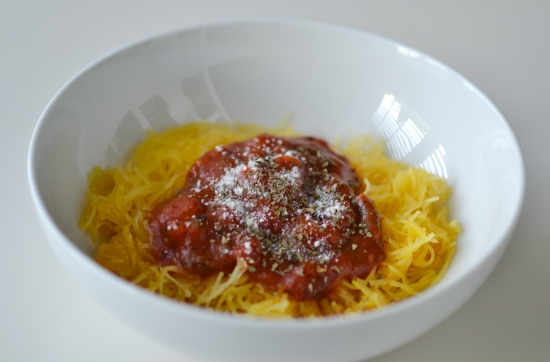 Spaghetti Squash- with sauce